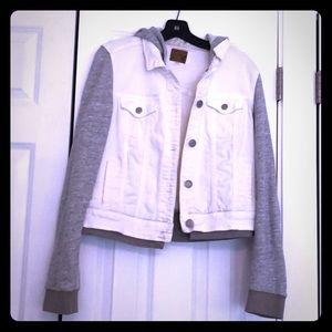 Cotton/denim hoodie